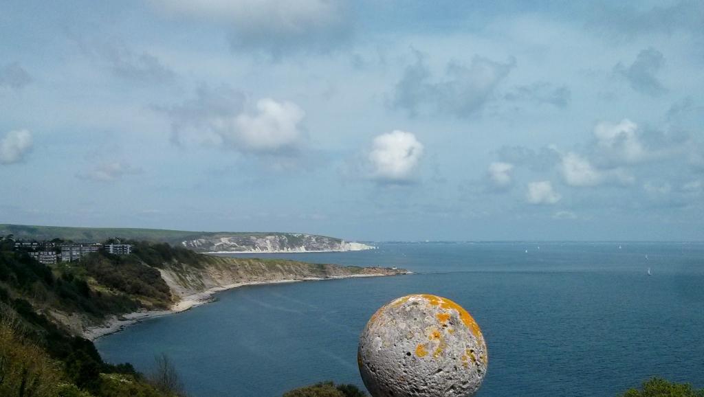 cliffs swanage dorset england great britain