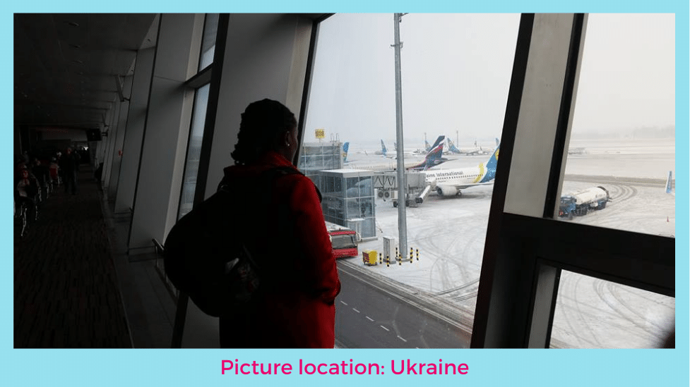 image looking through window at airport