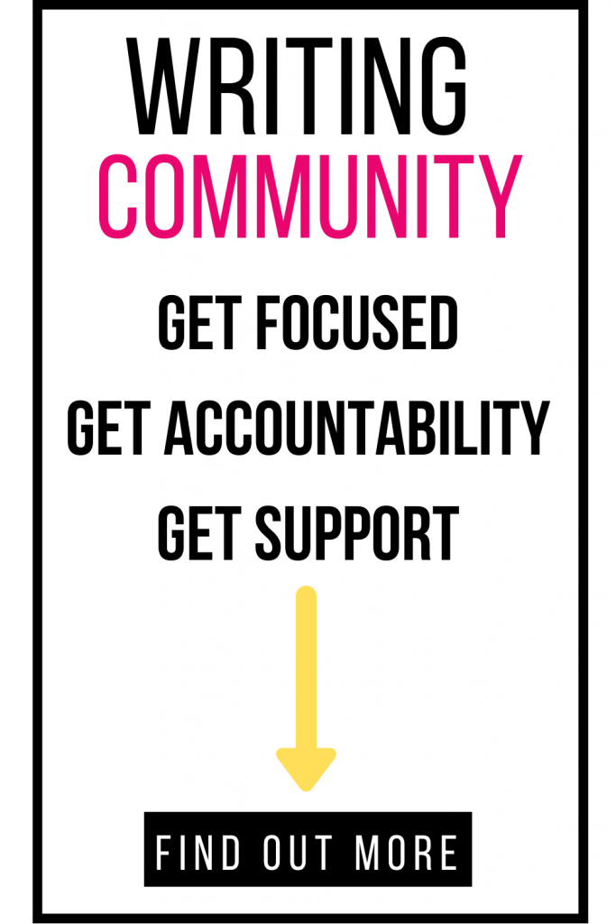 image of text box writing community get focused get accountability support