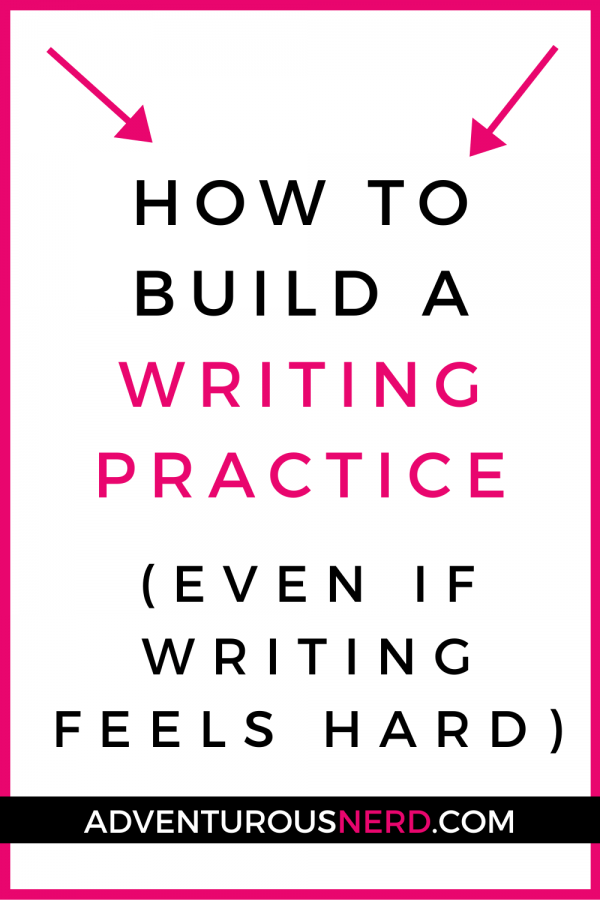 image of text box how to build a writing practice