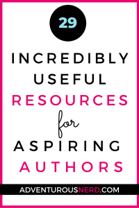 image of text box 29 incredibly useful resources for aspiring authors