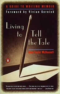image of book cover living to tell the tale Jane Taylor McDonnell