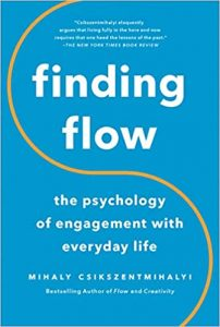image of book cover finding flow by Mihaly Csikszentmihalyi
